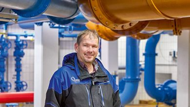Photo of Fit­ness for the water pipe­line